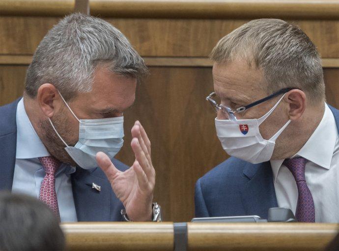 Peter Pellegrini a Boris Kollár Foto TASR