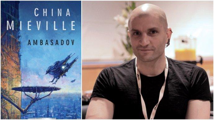 Román Ambasadov (Laser books, 2012) a jeho autor China Miéville v čase jeho publikovania. Foto - Ceridwen