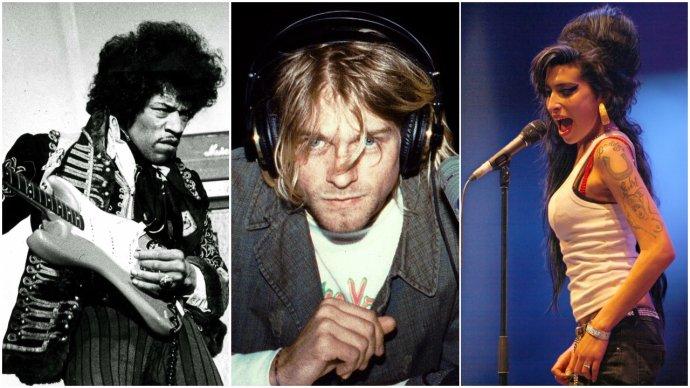 Klub 27 - Jimi Hendrix, Kurt Cobain, Amy Winehouse. Foto - Scanpix, Julie Kramer, Rama