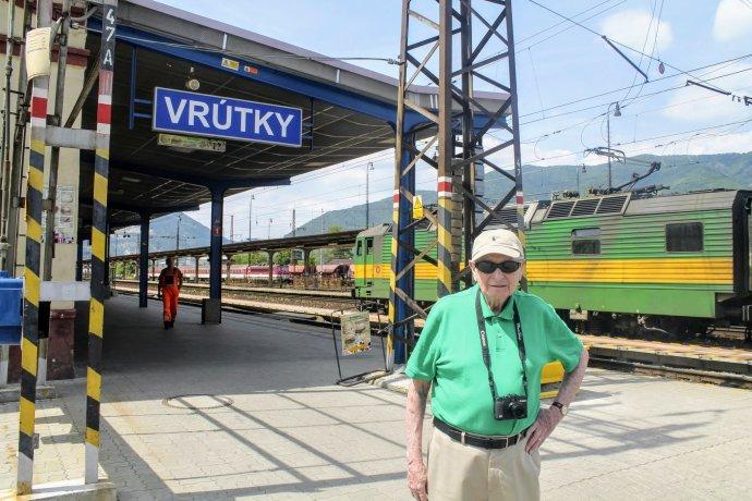 Juraj Vago vo Vrútkach. Foto - archív J. V.