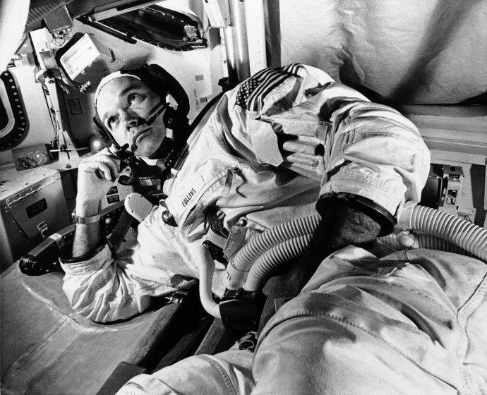 Michael Collins počas tréningovej misie mesiac pred štartom Apolla 11. Foto - TASR/AP