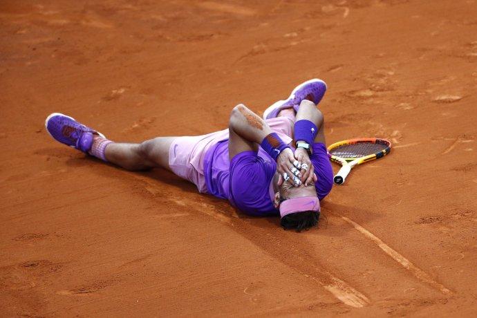 Rafael Nadal po zisku prvého titulu v tomto roku. FOTO TASR/AP