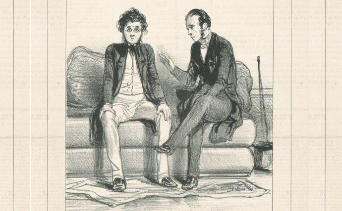 Paul Gavarni - Doktor (okolo 1840). Zdroj - webumenia.sk/SNG