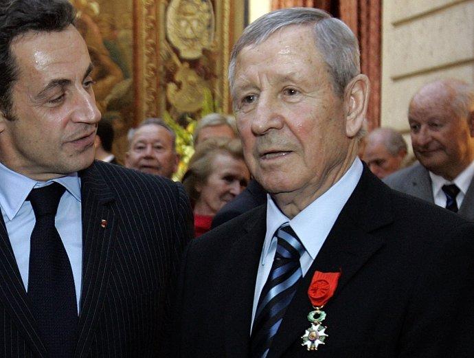 Kopa v roku 2008 s vtedajším prezidentom Nicolasom Sarkozym. Foto - TASR/AP