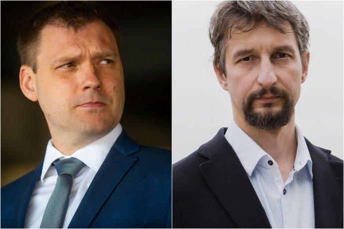 Tomáš Taraba (vľavo) a jeho asistent a člen predsedníctva Tarabovej strany Miroslav Vetrík. Foto - TASR/FB M. Vetríka