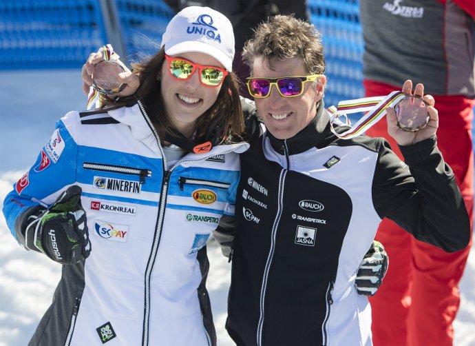 Petra Vlhová a Livio Magoni v roku 2019. Foto - TASR/AP
