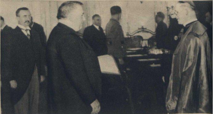 Ján Vojtaššák (vpravo) na stretnutí s Jozefom Tisom 17. augusta 1940. Foto - Wikimedia