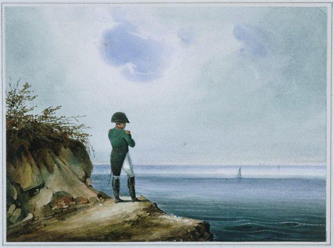 Napoleon na Sv. Helene. Obraz Franza Xavera Sandmanna z roku 1820. Zdroj - Wikimedia (public domain)