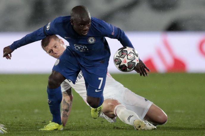 N'Golo Kanté proti Realu. Foto - TASR/AP