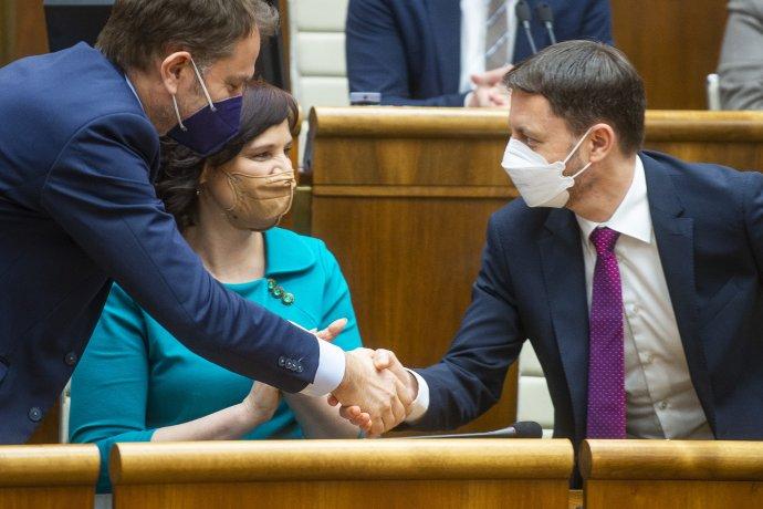 Vláda získala dôveru parlamentu. Foto - TASR