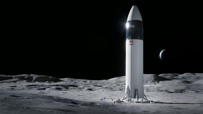 Kozmická loď Starship od spoločnosti SpaceX by mala dopraviť ľudí na mesačný povrch. Zdroj – SpaceX