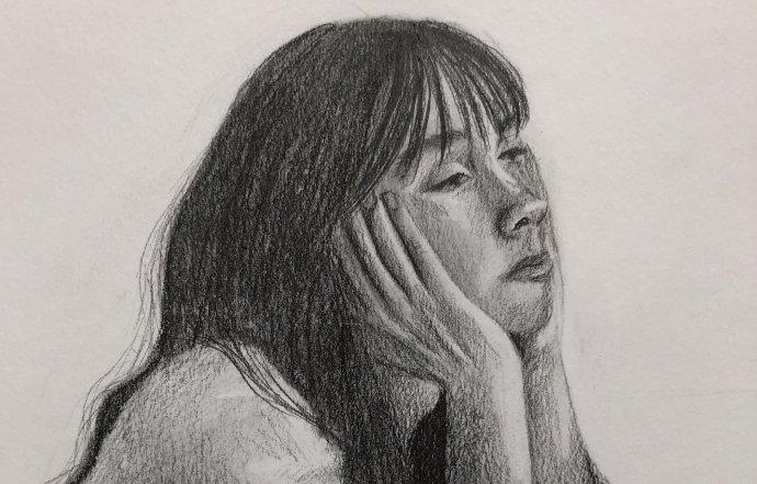Kresba je súčasťou súťaže Správa z izolácie. Autorka – Petra Sumková, 17 rokov, Gymnázium Jozefa Lettricha v Martine