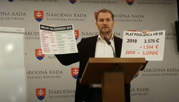 Igor Matovič kritizujúci zvýšenie platov
