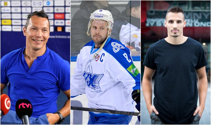 Zľava: Ladislav Nagy, Martin Cibák a Branislav Rapáč. Foto - TASR, N - Vladimír Šimíček