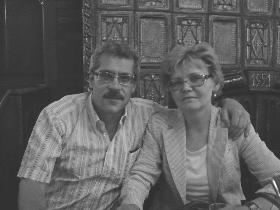 Grigorij Rodčenkov smanželkou Veronikou. Kolín, 2008. Foto z knihy