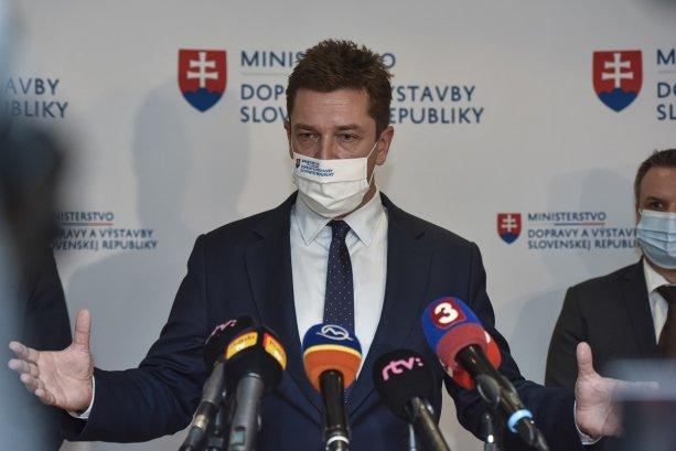 Na snímke minister dopravy a výstavby Andrej Doležal (Sme rodina). FOTO TASR - Pavol Zachar