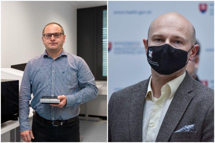 Molekulárny biológ a genetik Tomáš Szemes a virológ Boris Klempa. Foto – koláž N