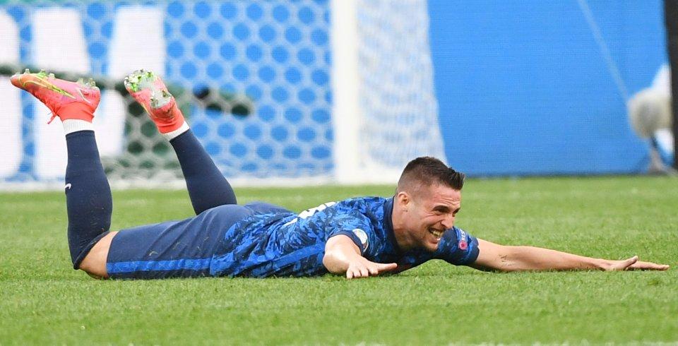 Mak oslavuje svoj úvodný gól na majstrovstvách Európy. Foto - tasr
