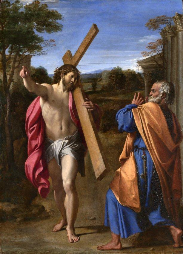 Annibale Carracci - Pane, kam ideš? - Kristus sa zjavuje svätému Petrovi na Via Appia. (1601-1602). Zdroj: wikipedia.org