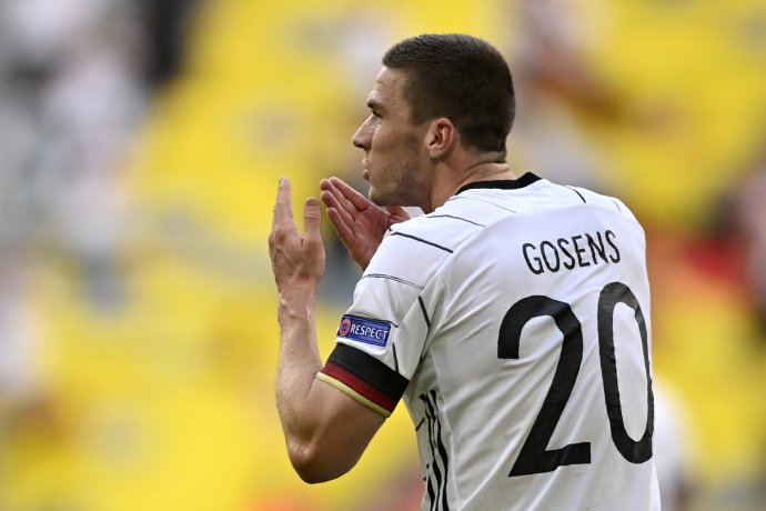 Robin Gosens oslavuje gól Portugalsku. Foto - TASR/AP