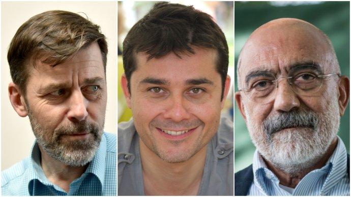 Peter Stamm, Laurent Binet, Ahmet Altan. Foto - Jindřich Nosek, Esby, PEN International