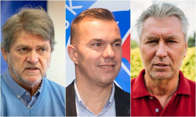 Zľava: Ladislav Borbély, Szilárd Németh a Ján Kocian. Foto - TASR a Jana Červená