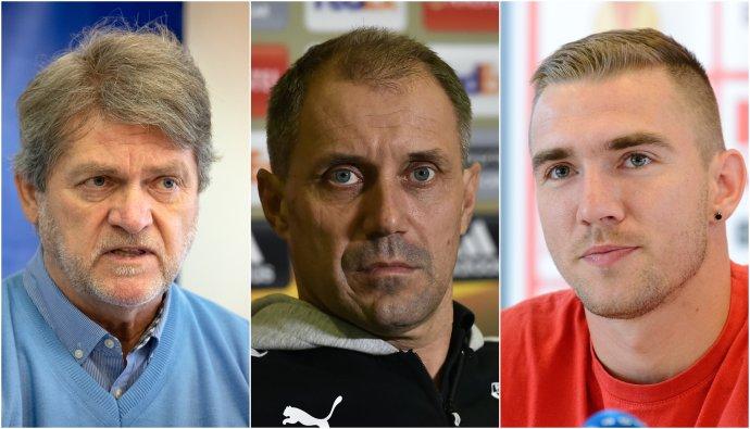 Zľava: Ladislav Borbély, Roman Pivarník a Erik Jendrišek. Foto - TASR