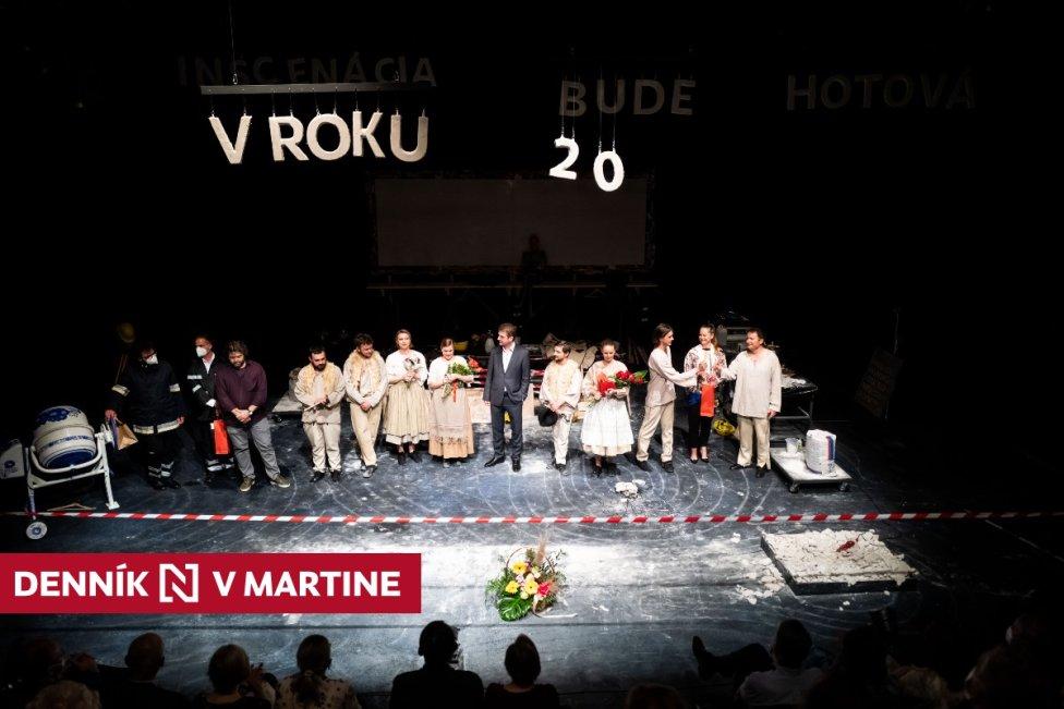 Premiéra predstavenia D1 (pracovný názov) v Slovenskom komornom divadle v Martine. Foto N - Vladimír Šimíček
