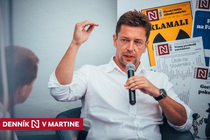 Minister dopravy Andrej Doležal na diskusii Denníka N v Martine. Foto N – Peter Kováč