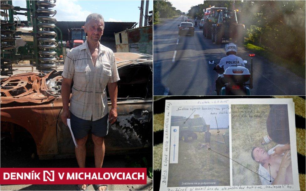 Farmár Béreš so zhoreným BMW jeho syna, bitky na poliach a protestná jazda traktorov na Bratislavu. Foto N – Andrej Bán