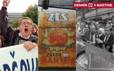 Konverziu zbrojnej výroby, o ktorej rozhodli už komunisti, potvrdil aj Havel na návšteve ZŤS Martin v máji 1990. Foto – TASR
