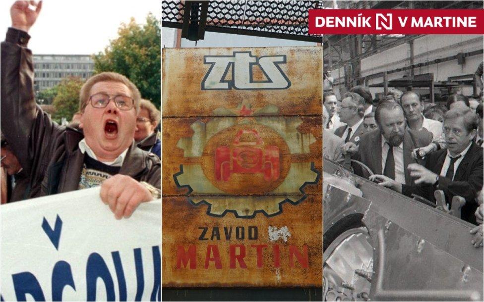 Konverziu zbrojnej výroby, o ktorej rozhodli už komunisti, potvrdil aj Havel na návšteve ZŤS Martin v máji 1990. Foto - TASR