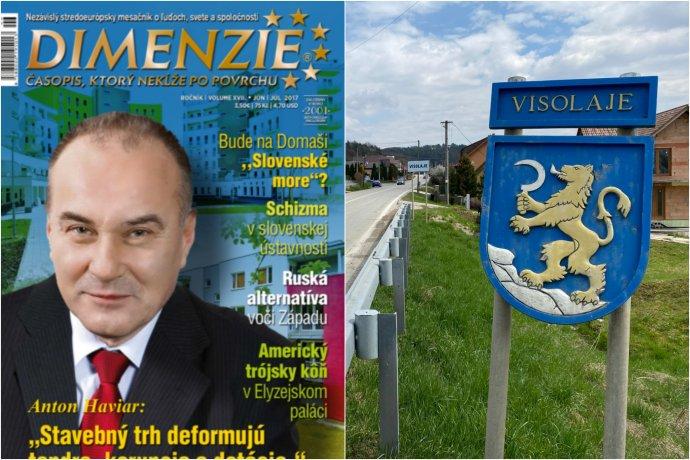 Pre výstavbu veľkého skladu pre Continental v obci Visolaje dostal peňažný trest aj stavebný podnikateľ Anton Haviar (na titulke časopisu Dimenzie z roku 2017).