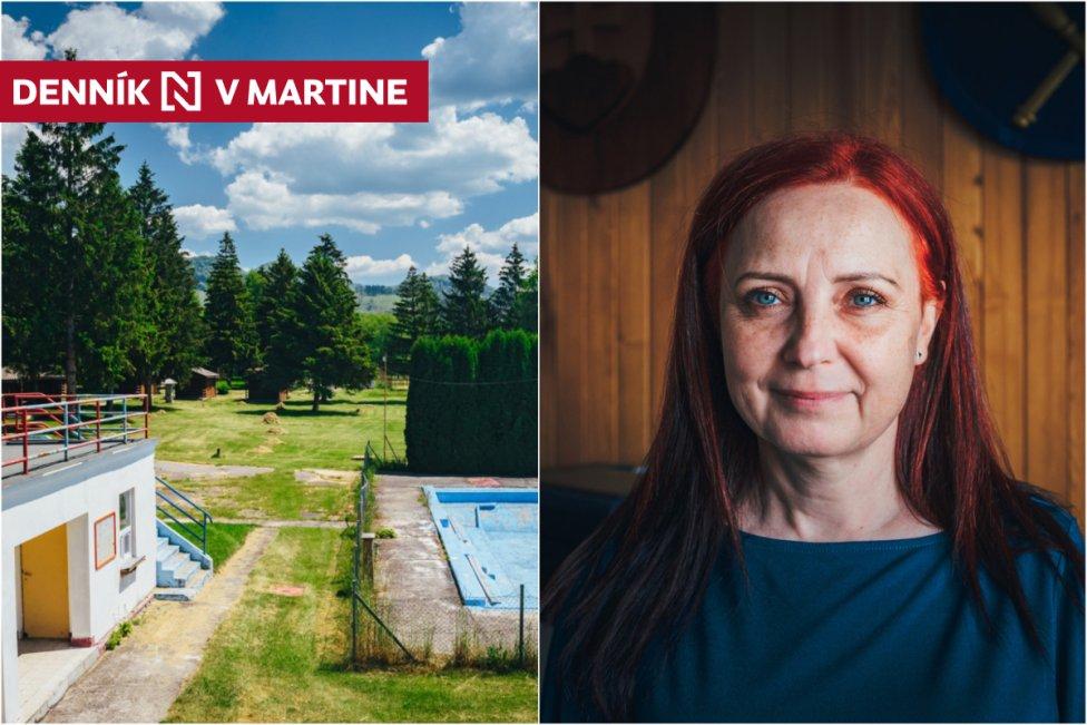 Prvý bazén postavili v Mošovciach ešte v 30. rokoch za žobračenky. Zaväzuje nás, aby sme ho udržali, hovorí starostka Elena Krajčová. Foto N - Peter Kováč