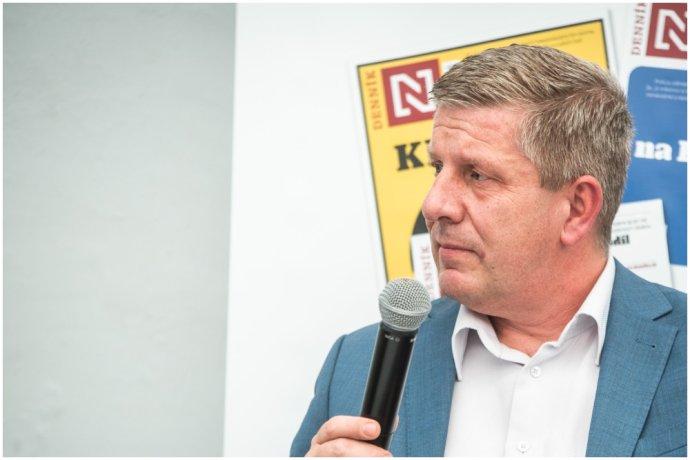 Minister zdravotníctva Vladimír Lengvarský na diskusii Denníka N v Martine. Foto N