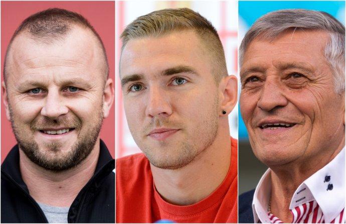 Zľava: Marek Sapara, Erik Jendrišek a Dušan Radolský. Foto N - Vladimír Šimíček, TASR