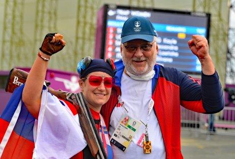 Zuzana Rehák Štefečeková s trénerom Branislavom Slamkom. Foto – TASR/Martin Baumann