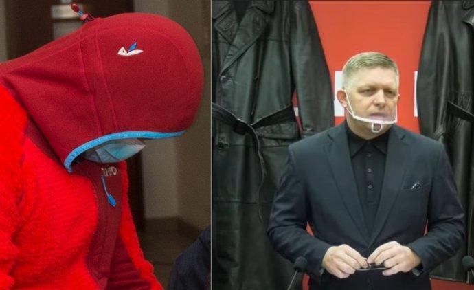 Marián Kučerka a Robert Fico. Foto - TASR a záber z videa Smeru