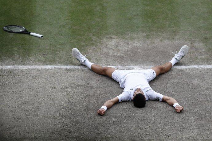 Radosť Novaka Djokovića po 20. grandslamovom titule. Foto – TASR/AP