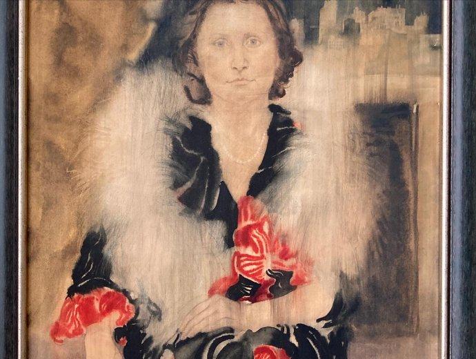 Za dobrú polievku namaľoval študent portrét Kataríny Rakovskej. Foto - archív KR