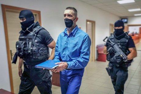 Boss takáčovcov Ľubomír Kudlička v júli na súde s Dušanom Kováčikom. Kudlička Foto N