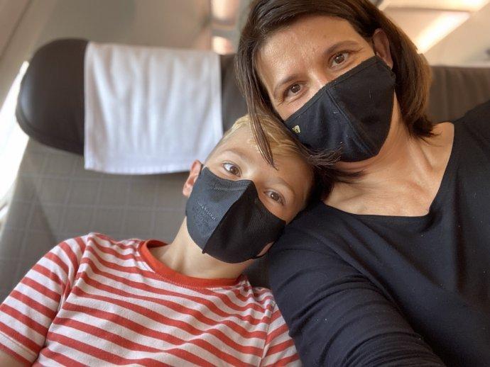 V lietadle do Miami sme z našej päťčlennej rodiny len dvaja - ja a môj prostredný syn Alex. Nepýtajte sa prečo. Foto – Deník N/Jana Ciglerová