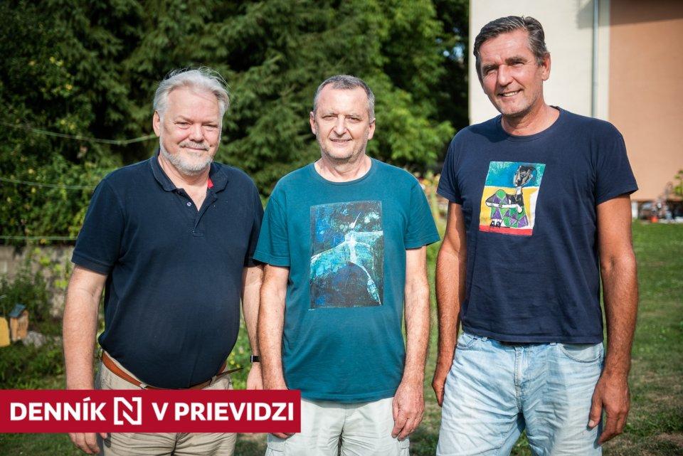 Traja z piatich zakladateľov Video TV Prievidza - Milan Budáč, Juraj Vaňo a Stanislav Pavle. Foto N - Tomáš Hrivňák