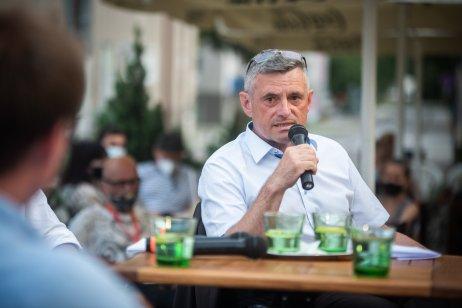 Predseda dozornej rady Hornonitrianskych baní Prievidza Rastislav Januščák. Foto N – Tomáš Hrivňák