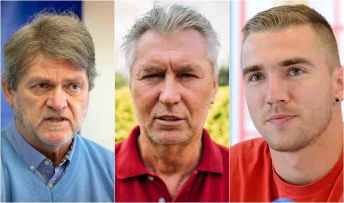 Zľava: Ladislav Borbély, Ján Kocian a Erik Jendrišek. Foto - TASR, Jana Červená