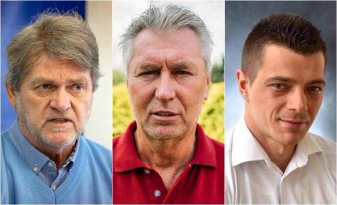 Zľava: Ladislav Borbély, Ján Kocian a Matúš Lukáč. Foto - TASR, Jana Červená, archív M. L.