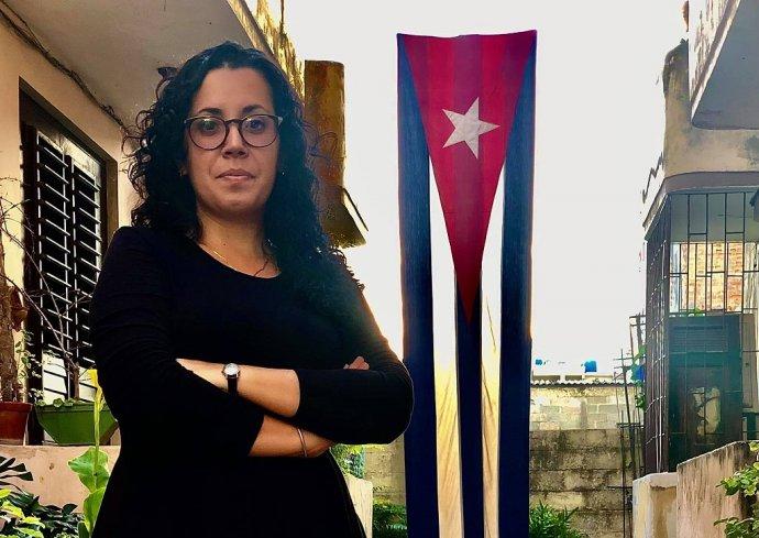 Nezávislú kubánsku novinárku Camilu Acostovú polícia zadržiavala štyri dni za účasť na protestoch. Foto - archív C. A.