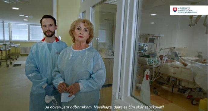 Kampaň ministerstva zdravotníctva, s Gizkou Oňovou a Petrom Sabakom. Zdroj - MZ SR