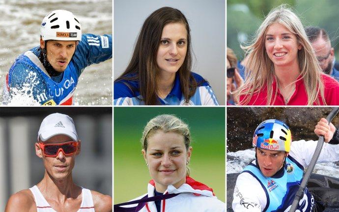 Matej Beňuš, Danka Barteková, Emma Zapletalová, Matej Tóth, Zuzana Rehák Štefečeková a Jakub Grigar. Foto – TASR