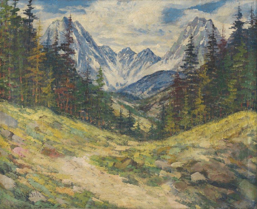 Anton Jasusch: Tatry, 1912. Zbierka Tatranskej galérie